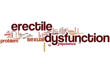 Erectile dysfunction word cloud