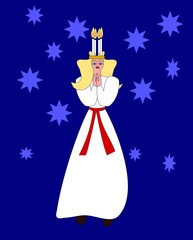 Saint Lucia nordic advent and christmas old tradition