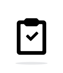 Check clipboard simple icon on white background.