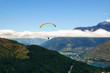 Paraglider in the sky, Queenstown, New Zealand - 74211265