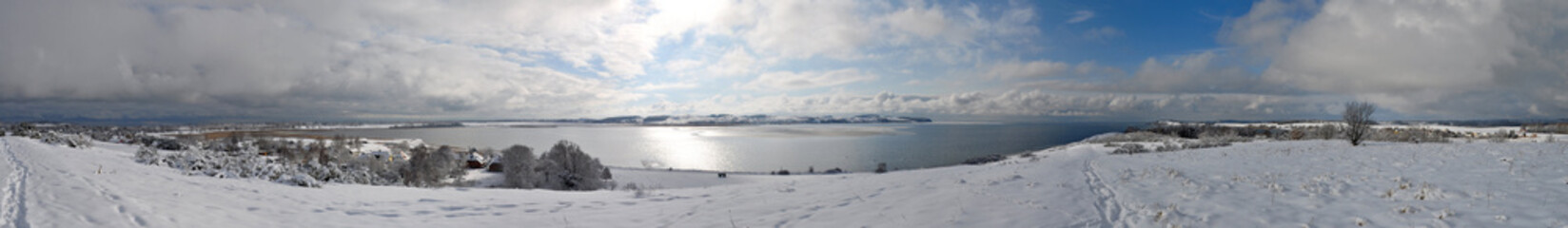 Panoramafoto vom Schafsberg aus, Blick zu den Zicker Bergen,