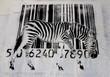 the barcode zebra graffiti