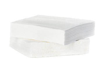 White square bar napkins isolated