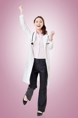 Cheerful Asian doctor