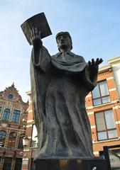 scholar on the square in belgian Diest.