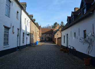 the beguinage in belgian Diest.