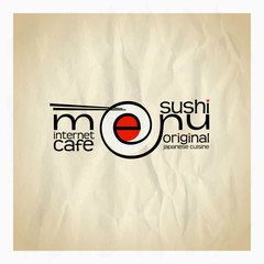Original sushi menu card design.