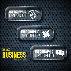Business tech infographic template with text fields. Vector Illu