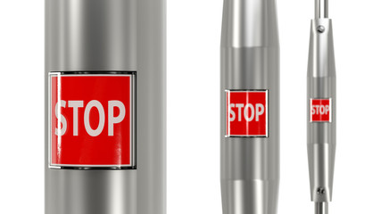 Stop button urban bus