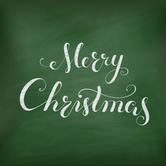 Christmas Chalkboard with lettering.