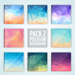 collection bright colors set polygonal backgrounds concept. Vect