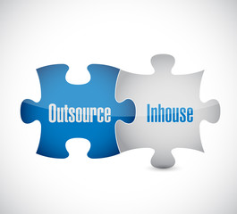 outsource and inhouse puzzle pieces