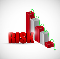 risk red business graph illustration design