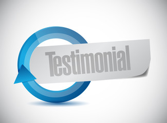 testimonial cycle illustration design
