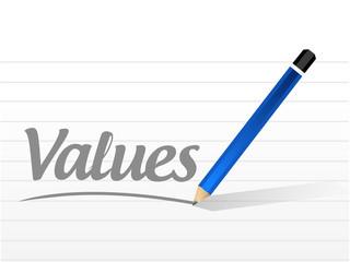 values message sign illustration design