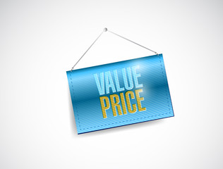 value price hanging banner illustration