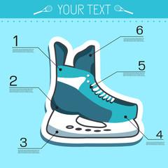 Flat sport skating background concept. Vector illustration desig
