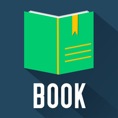 flat book design. vector illustration concept