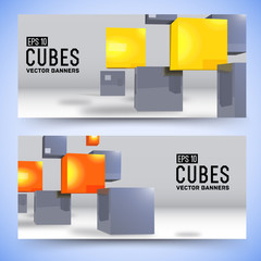 realistic cubes background concept. Vector illustration