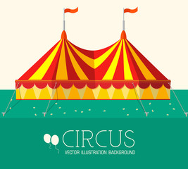 circus flat background concept. vector illustration design