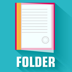 flat folder icon concept. vector illustration design