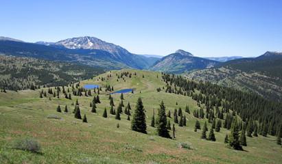 Rocky Mountains near Little Molas Lake