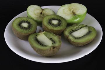 Green apple and kiwi