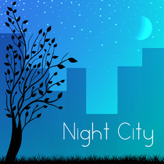 night city background concept. Vector illustration