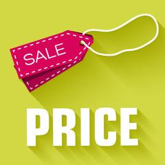 retro flat price tag icon concept. vector illustration design