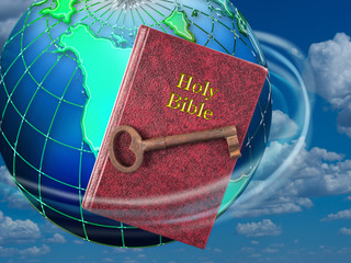 Holy Bible and Key.