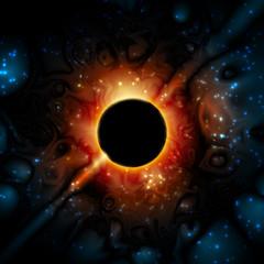 Black Hole Supermassive Gravity Universe Space; Eps10; No Mesh