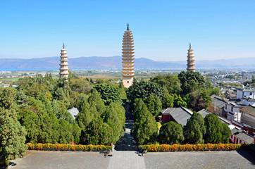 Three Pagodas of Chongsheng Temple in Dali city,China