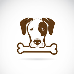 Vector image of an dog and bone