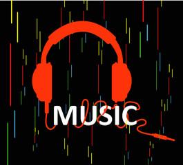 Headphones with word music