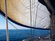 Yacht sailboat sailing Sailboat in the blue ocean
