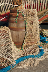 Colorful fishing nets - ocean backround