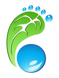 Eco Friendly Footprint vector