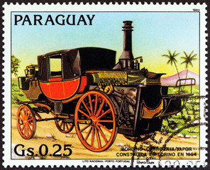 Bordino Steam Carriage of 1854 (Paraguay 1983)