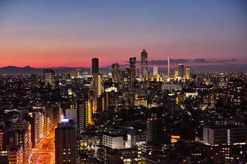 池袋高層ビル街の夜景