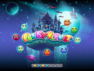 Illustrates an example of loading screen for a computer game on