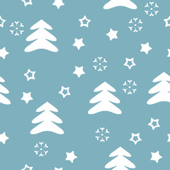 vector seamless pattern winter, christmas