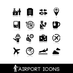 Airport icons set 10