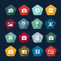 Photography icon, colors set 10