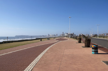 Patterned and Paved Promenade at Durban Beachfront