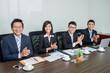 Applauding business team