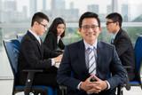 Mature Asian businessman