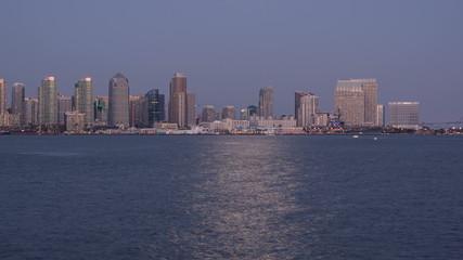 San Diego City Skyline Sunset Time Lapse