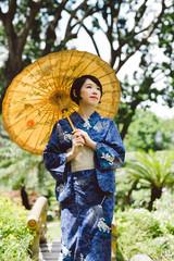 Pensive Japanese woman