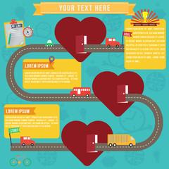 Heart healthy infographics, vector format