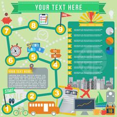 Business goal infographics, vector format